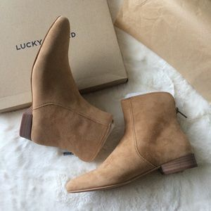 NEW IN BOX Lucky Brand Suede Ankle Boots